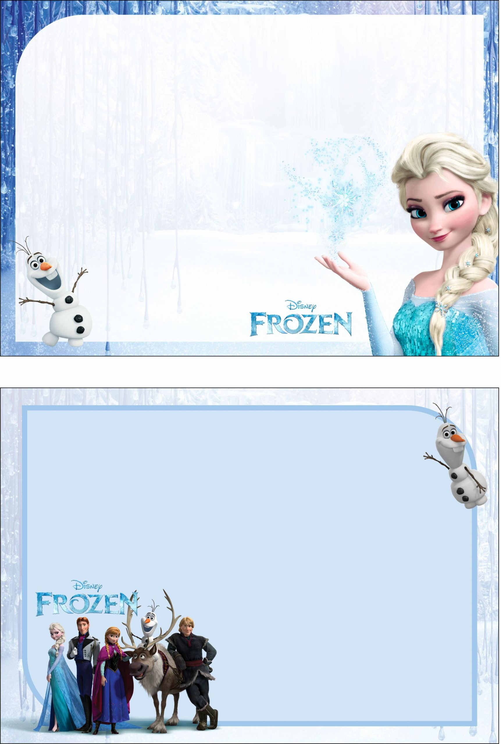 frozen 2 birthday party kit templates