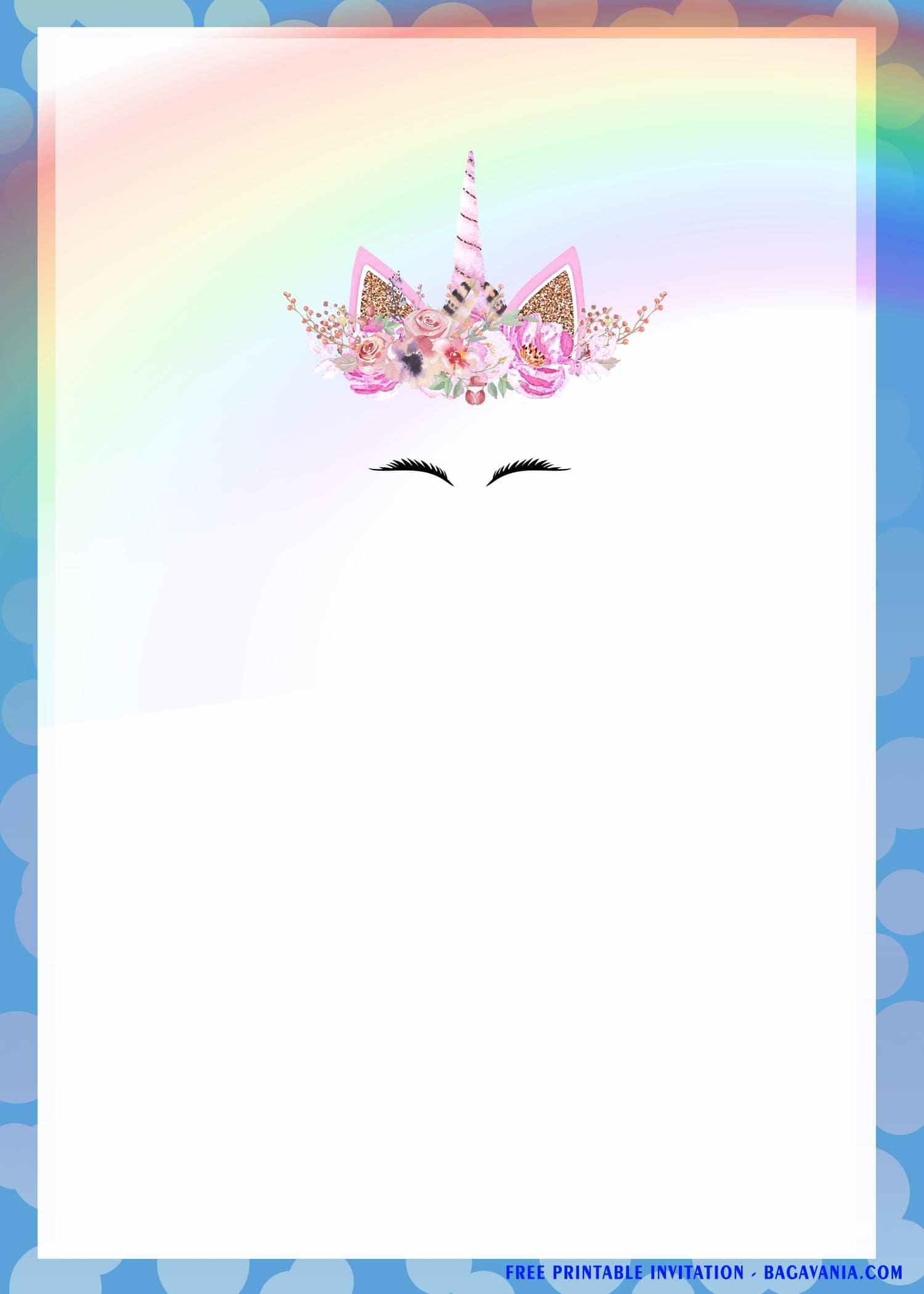 rainbow magical unicorn birthday