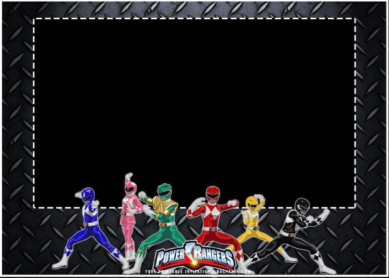 power ranger invitation templates