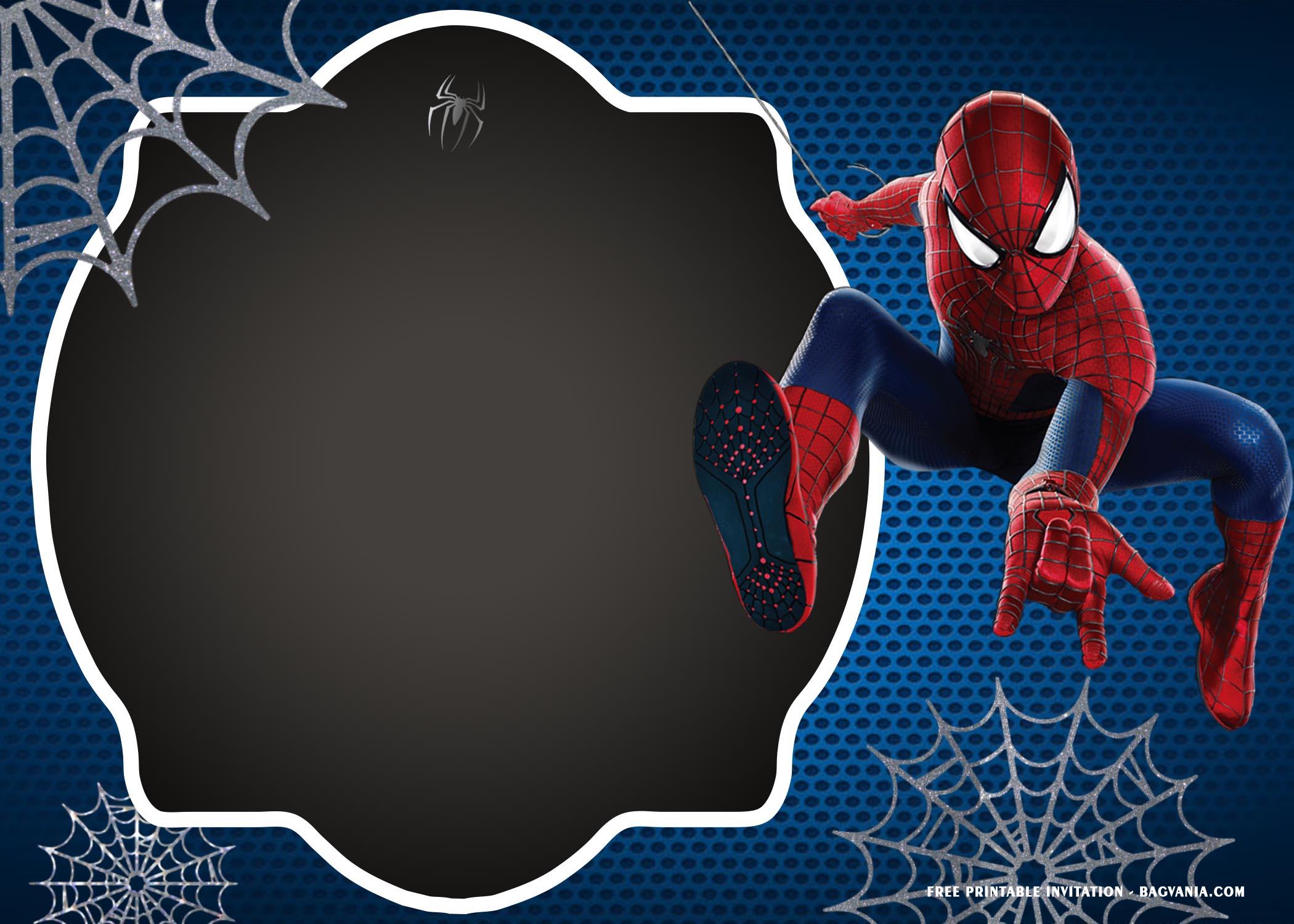 spiderman birthday invitation templates