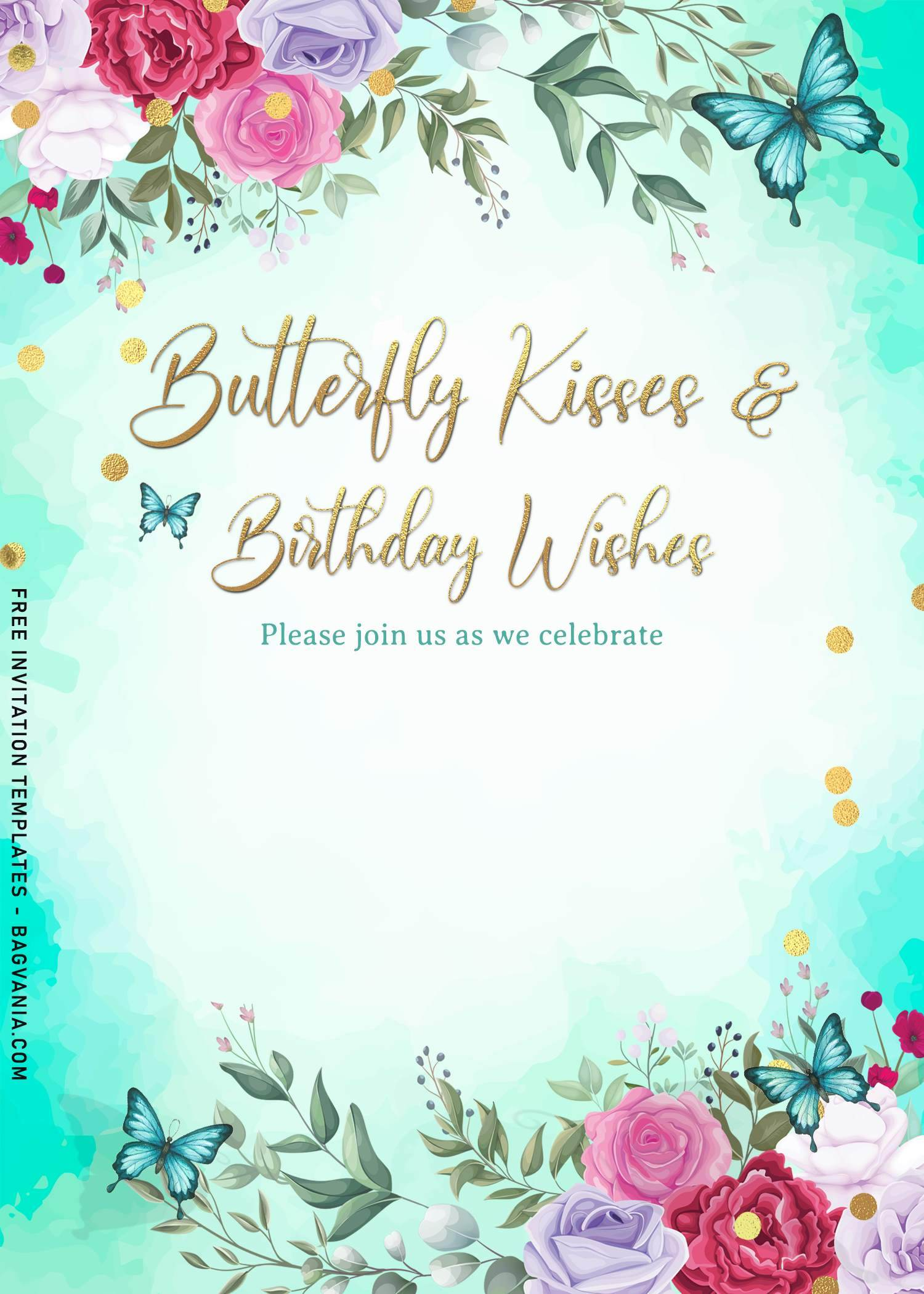 magical watercolor butterfly birthday