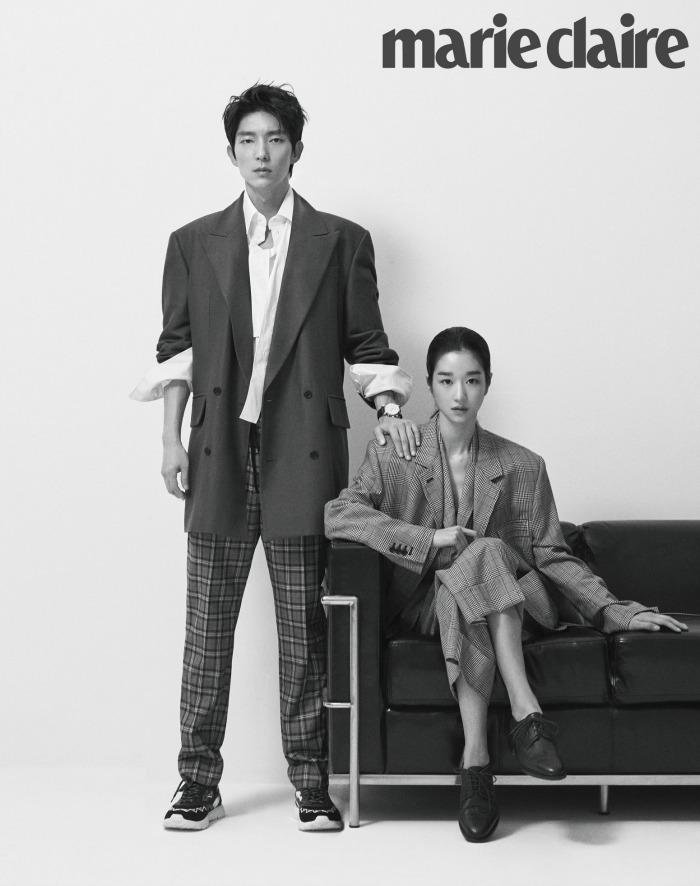 Marie Claire couples photo shoot for the Korean drama Lawless Lawyer starring Lee Joon-gi and Seo Ye-ji