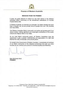 « ...notre diversité est notre force », a écrit Mark McGowan, Premier ministre de l'Australie-Occidentale.