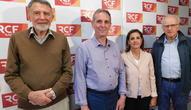 De gauche à droite : Jean-Pierre Laperches, Pierre léonard, Raz Fallahzadeh Hoffait et Pierre-Paul Delvaux. Crédit photo : RCF