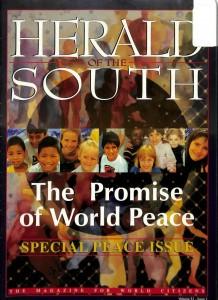 « Herald of the South » journal pour les bahá'ís d'Australie et de Nouvelle-Zélande est sorti à partir de 1925.