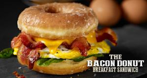 The Farmland Bacon Donut Breakfast Sandwich