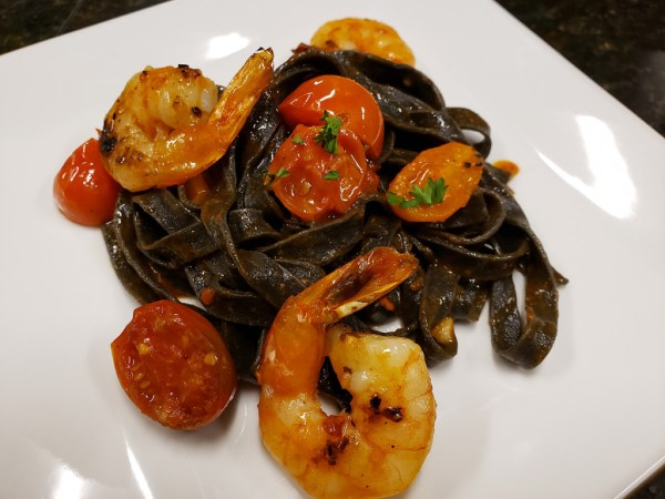 Pasta, Squid Ink Fettuccine, Frozen