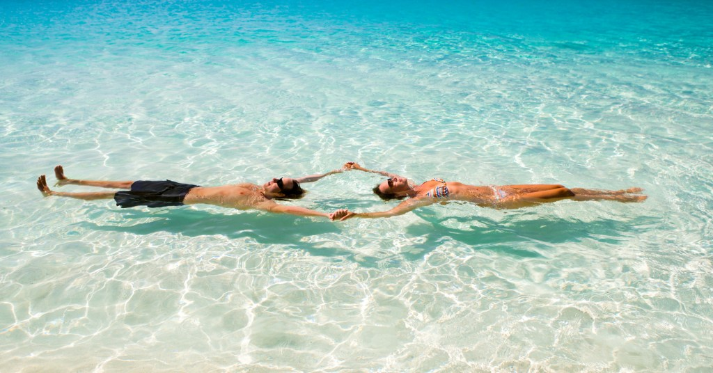 Enjoying the secluded beaches and clue waters of the Exuma Cays. Bahamas Air Tours provides private charter flight to Bahamas from Florida.