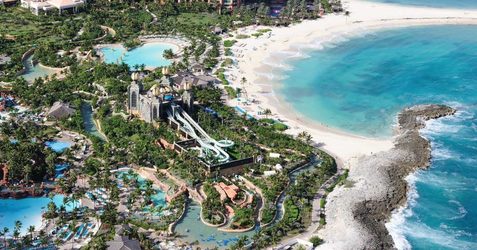 Aquaventure at Atlantis Paradise Island. Fly to Nassau Bahamas with Bahamas Air Tours from Florida.