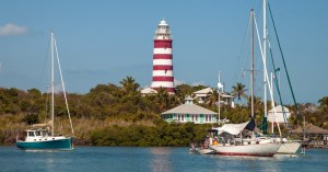 Hope Town Lighthouse on Elbow Cay bahamas can be visited on a Bahamas air charter or day trip to Bahamas from Marsh Harbour on Abaco Bahamas. Copyright Bahamas Ministry of Toursim