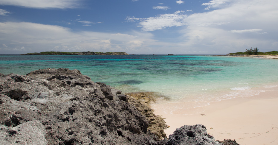 San Salvador island Bahamas beach