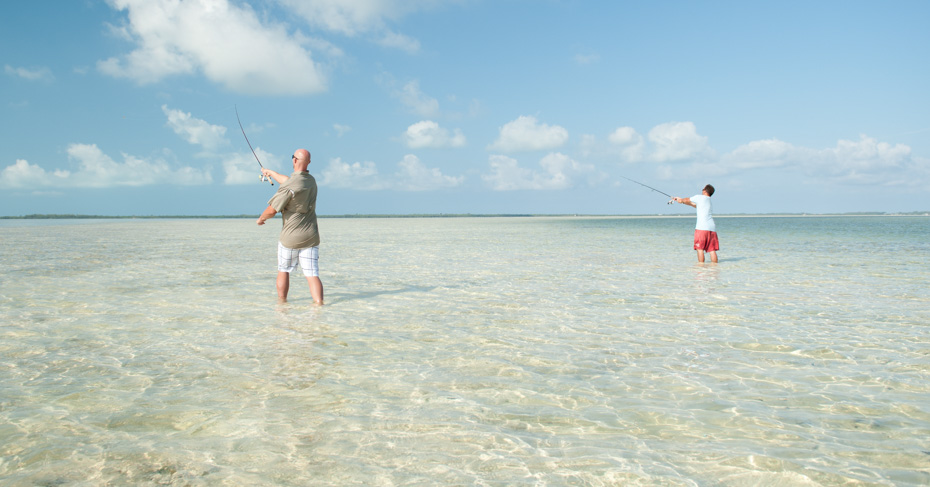 Bahamas Fishing Charters Bonefishing on a private Bahamas fishing charters and island hopping tours from Bahamas Air Tours
