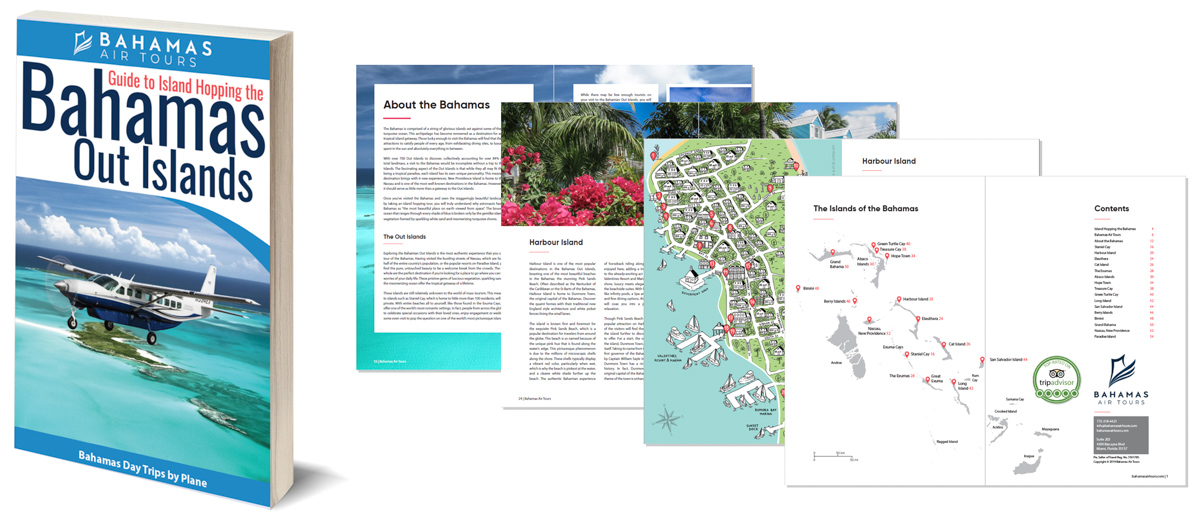 Discover the Bahamas with this informative Bahamas Travel Guide PDF download. Fly from Florida to Bahamas with Bahamas Air Tours on their unique Bahamas Day Trips by Plane from Miami and Nassau, and Bahamas Tours to the amazing Bahamas Out Islands.
