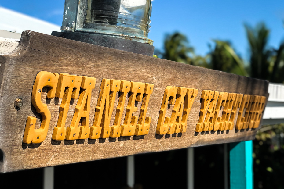 The Staniel Cay Yacht Club sign from when the Hotel Opened.