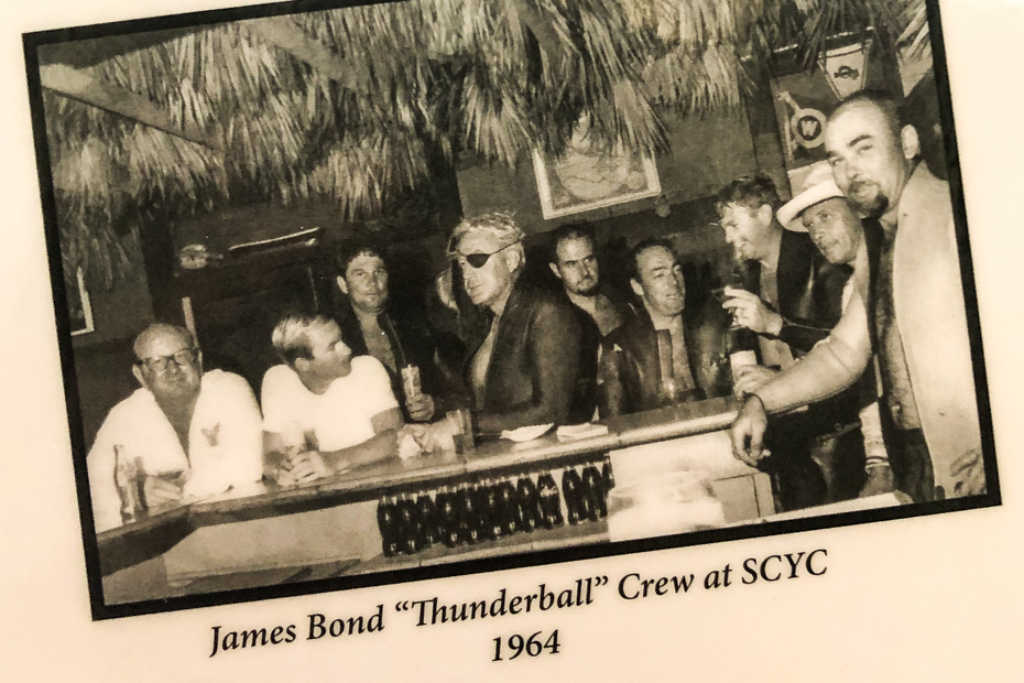Staniel Cay Yacht Club was visited by the James bond Thunderball Film crew during the filming of Thunderball in 1964.