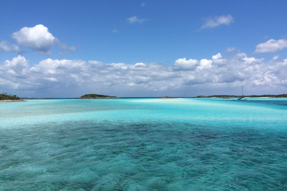 Blue as far as the eye can see. Shot on a day trips from Miami to Bahamas day tour from Florida.