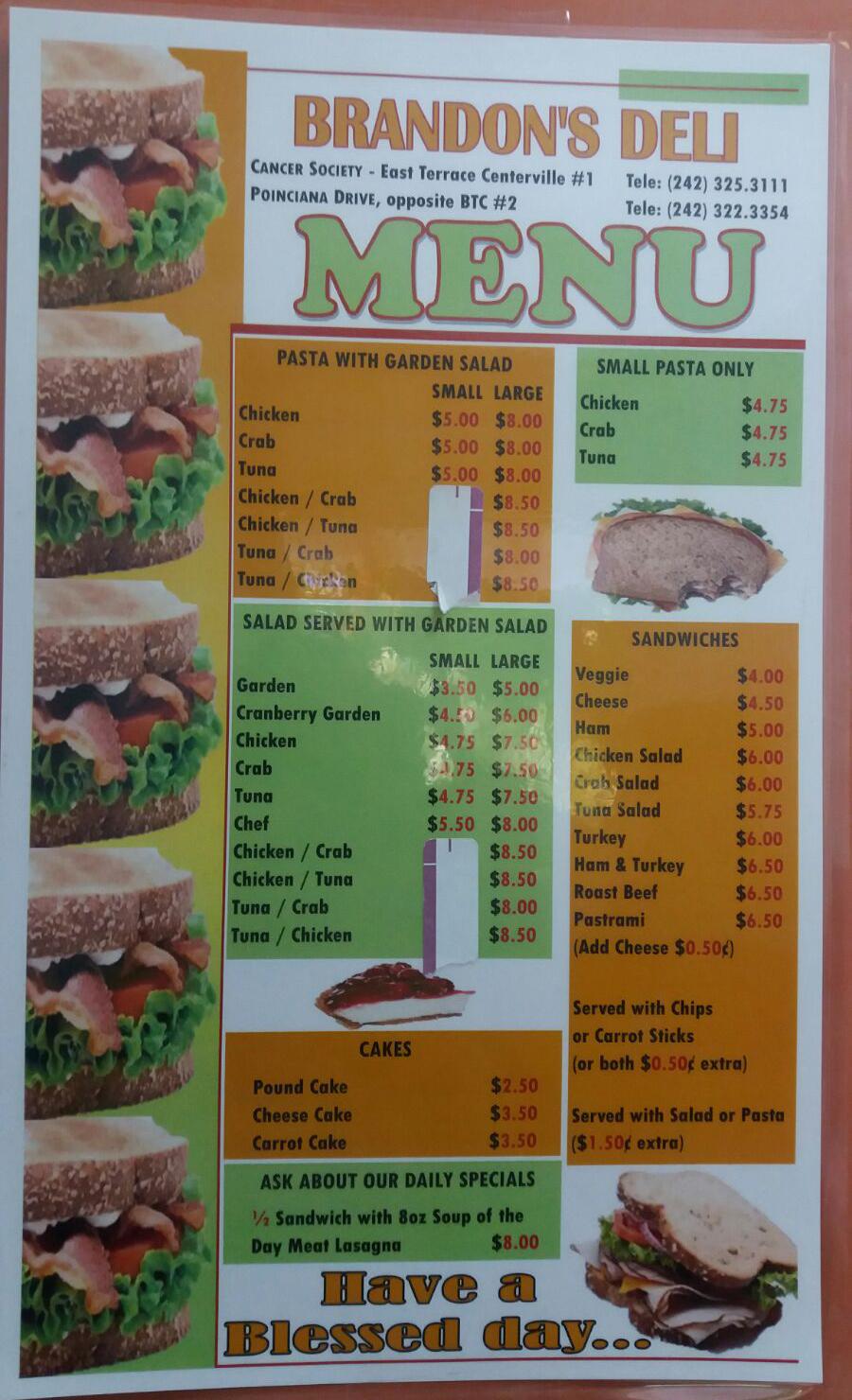 Ice House Menu
