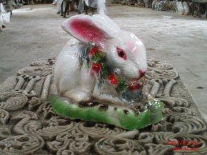Çiçekli Tavşan Maketi