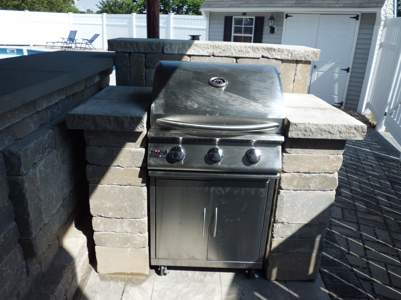 Built-in Outdoor Kitchens in Connecticut on Built In Grill Backyard id=86633