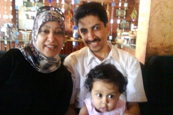 Abdulhadi Al-Khawaja and his family, before he was imprisoned