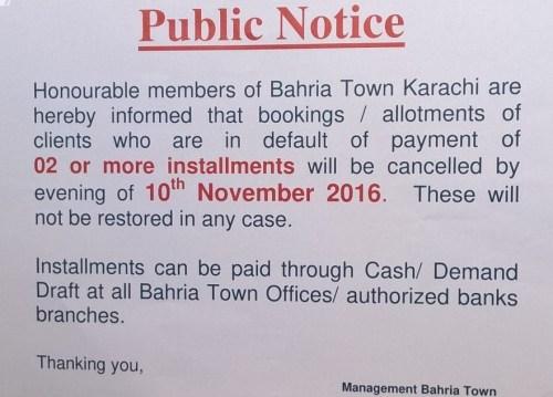 BTK cancellation notice
