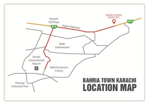 Bahria Karachi Location Map