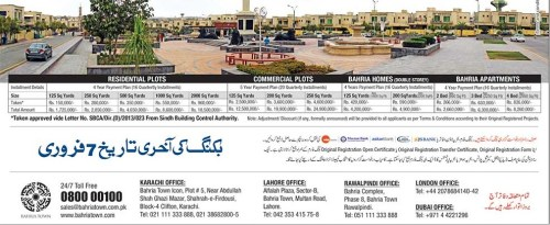 Bahria Town Karachi Payment plan