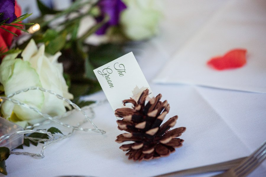 Pine cone table decoration
