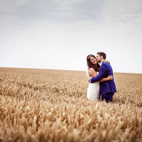 cornfield rustic wedding in Yorkshire