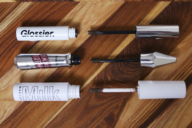 brush detail photo for milk makeup kush glossier boy brow and benefit gimme brow