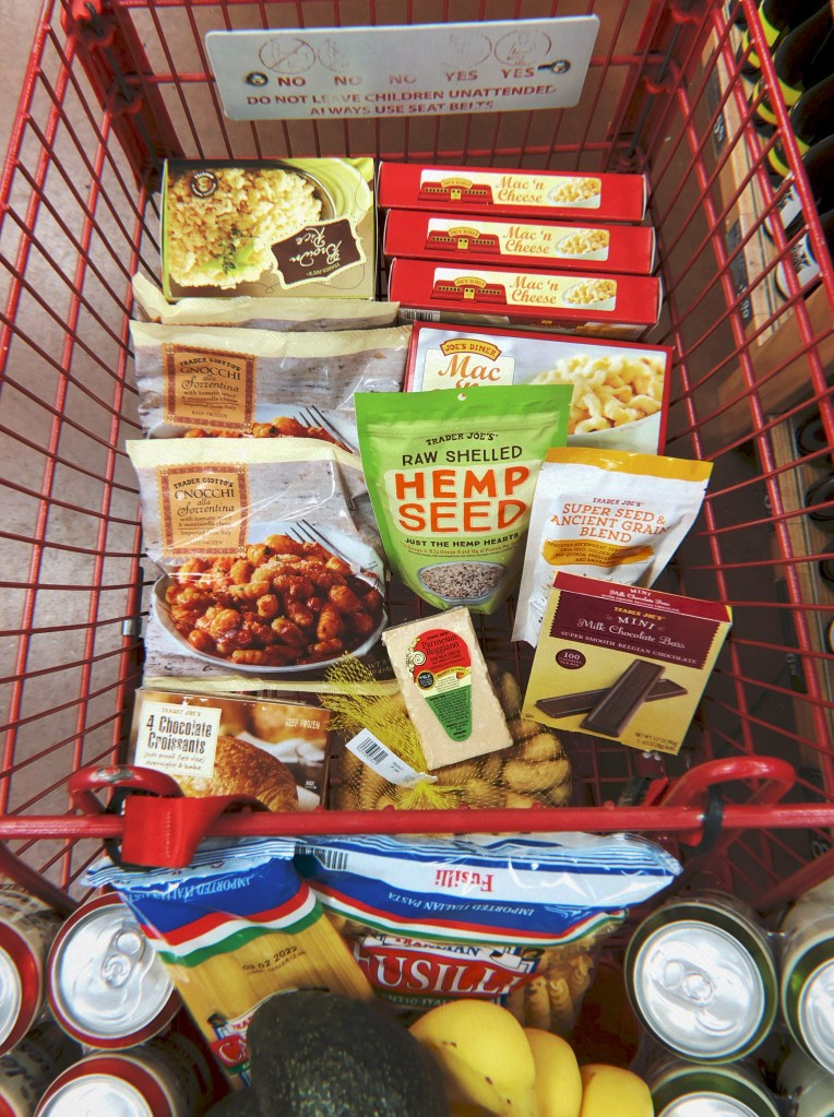 my grocery cart at trader joe's