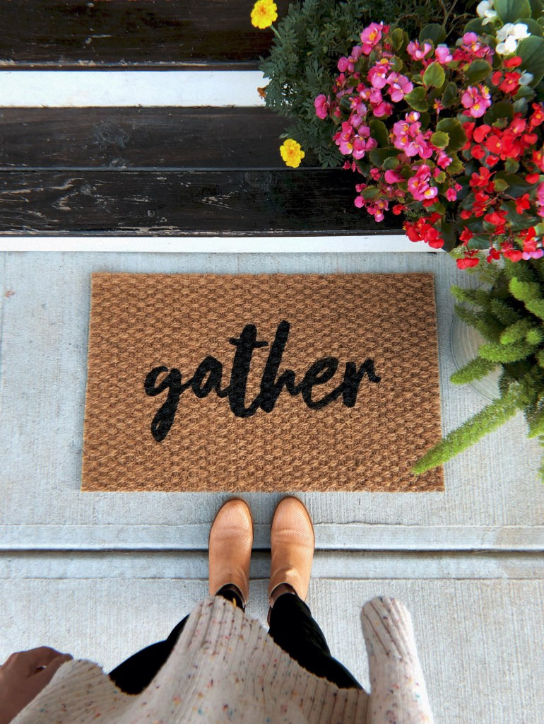 gather door mat by shop bailey bee