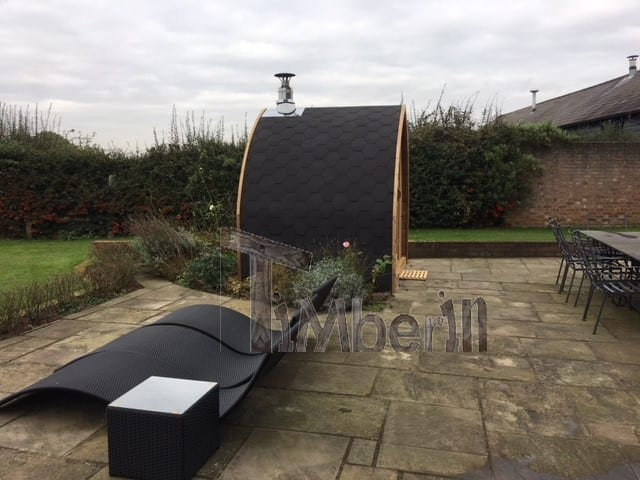 """2 M Small Outdoor Sauna Iglu With Wood Fired """"Harvia"""" Heater, Peter Gales, Hertfordshire, UK (2)"""