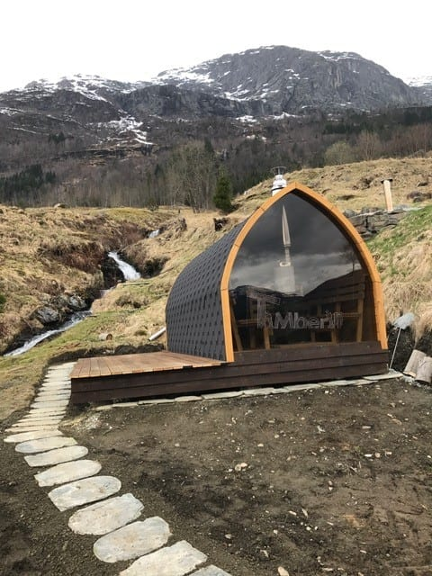 Utendørs Trebastu For Hage Igloo Design, Steinar, Skulestadmo, Norge