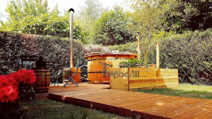 Jacuzzi Extérieur En Thermo Bois Deluxe, Paul, MARCHEPRIME, France