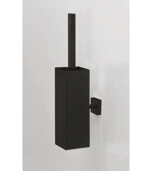 porte balai wc mural sans couvercle metal noir mat co wbg n corner