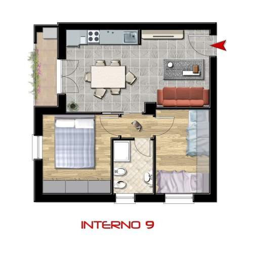 Interno 9, 2° piano