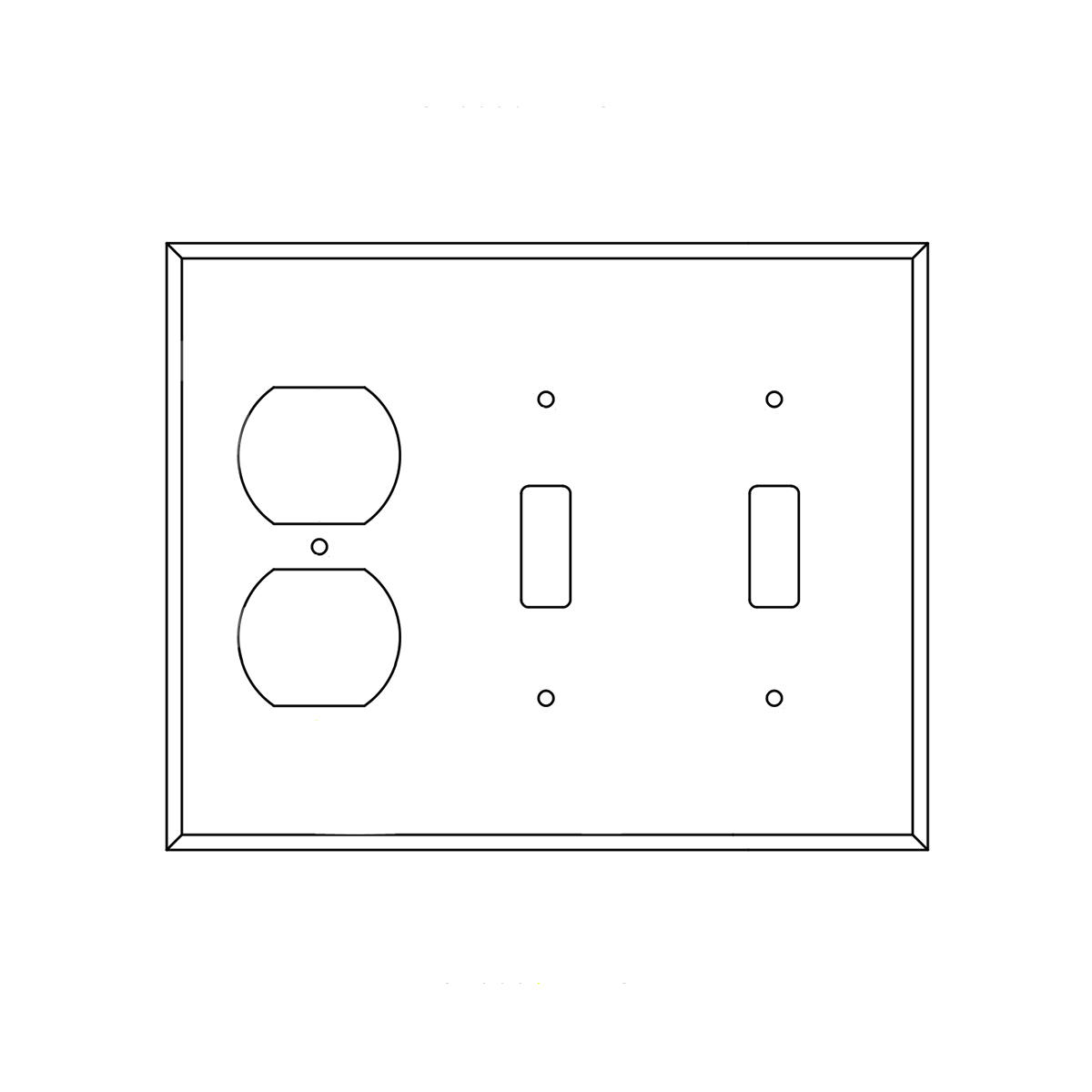Ash Double Switch Receptacle Cover Plate
