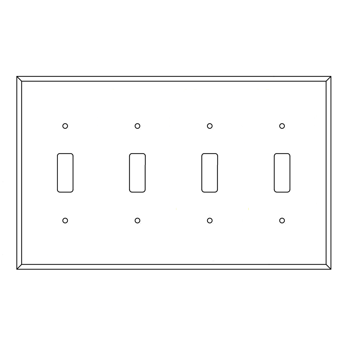 Brazilian Cherry Double Switch Receptacle Cover Plate