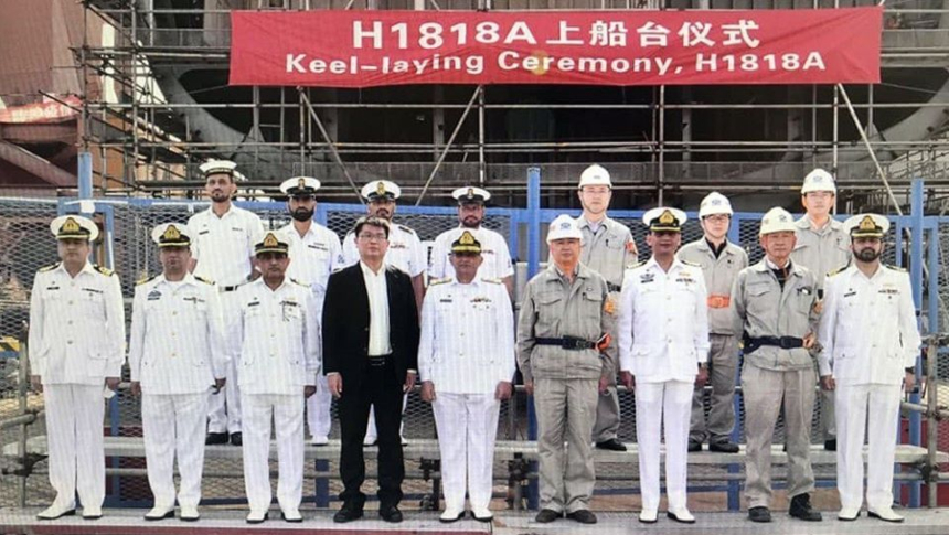 Keel laid for Pakistan Navy's second Type 054A frigate