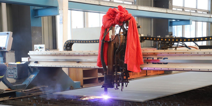 CIMC Raffles cuts steel for new yacht transporter for Sevenstar