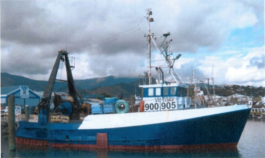 NZ$514,300 fines and reparation after grossly overloaded fishing vessel sinks