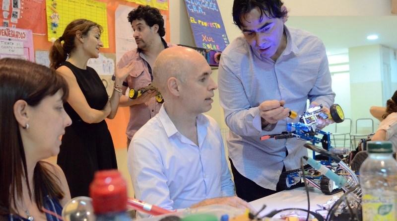 """Larreta: """"Que la escuela pública tenga clases de robótica es un orgullo enorme"""""""
