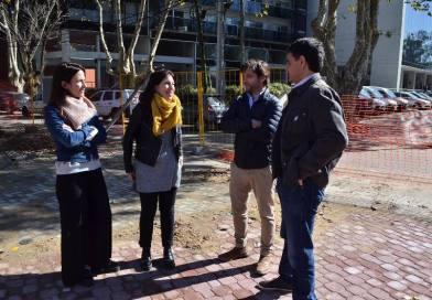 Vecinos y comerciantes, entusiasmados con la obra del boulevard Yrigoyen