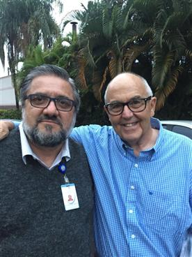 Ben Bess (Faces&Voices of Recovery) e Nivaldo Caliman (Diretor Superintendente Instituto Bairral).