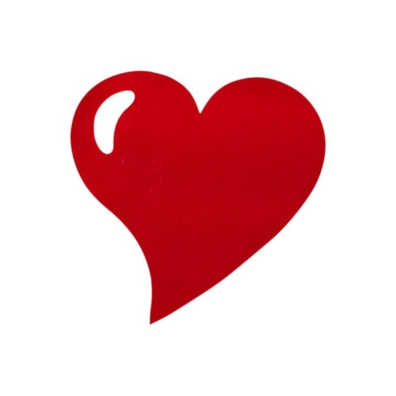 Set De Table Coeur Intiss Rouge Bordeaux Les 50