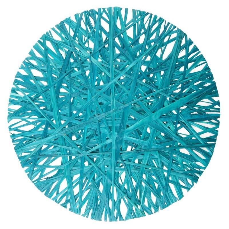 Set De Table Raphia Turquoise 34 Cm X4 Achat Sets De