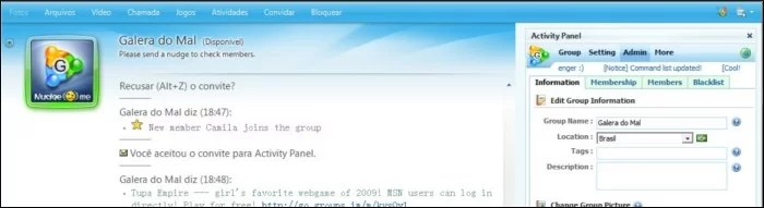 Configure o chat