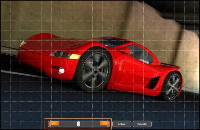 Utilize a barra para girar a imagem.