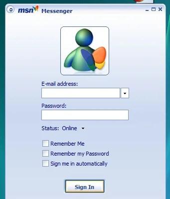 O MSN Messenger 7.